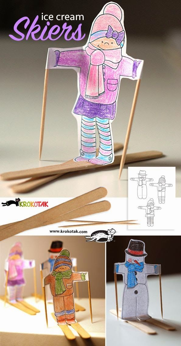 Kids Winter Craft Ideas Part - 50: Titinau0027s Art Room: 18+ Ideas For Easy Winter Crafts For Kids!
