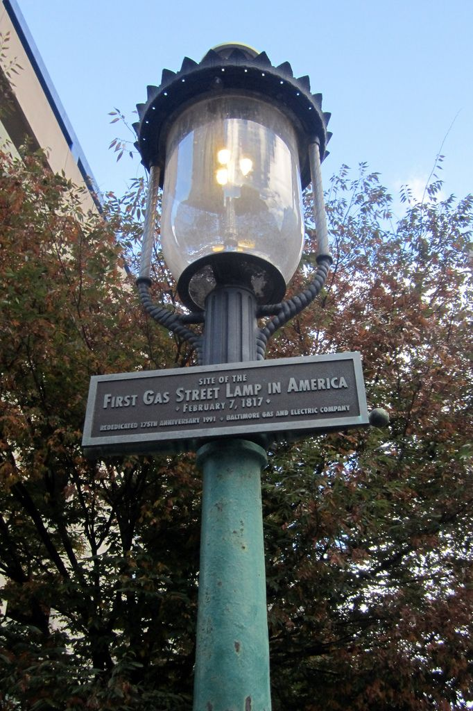 Baltimore First Gas Street Lamp In America Baltimore