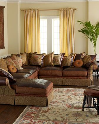 Mixed Media Sectional Sofa By Jeff Zimmerman Collection Key City At Horchow