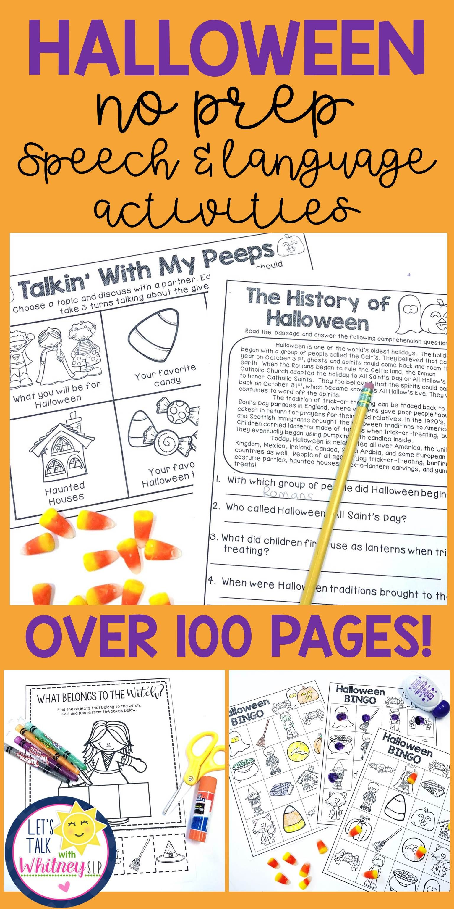 Halloween No Prep Speech Amp Language Unit