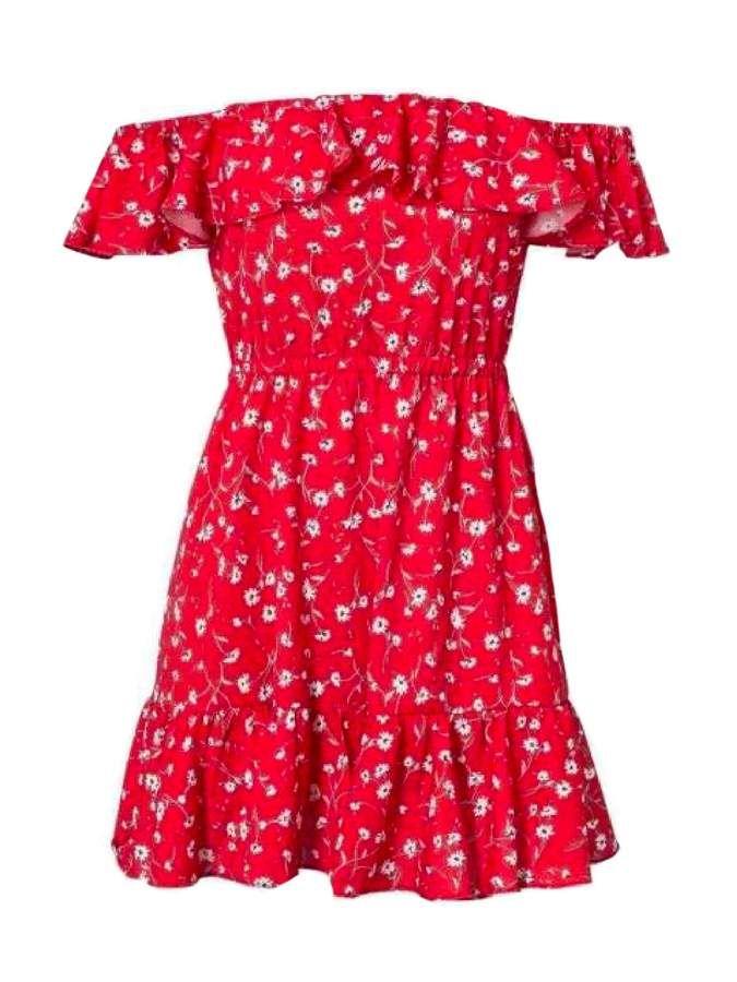 b01db4666331 Goodnight Macaroon  Tiffany  Floral Print Off The Shoulder Sundress