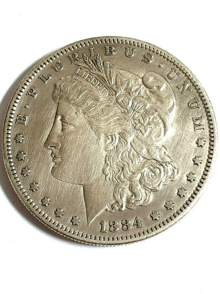 1 Morgan Dollar 1884 S Silver Coin Looks Very Nice Morgan Dollars Silver Coins Coins