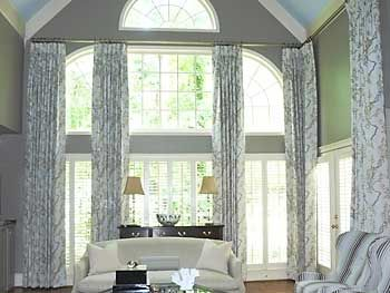 Custom window treatments for two story windows find more for 2 story window treatments