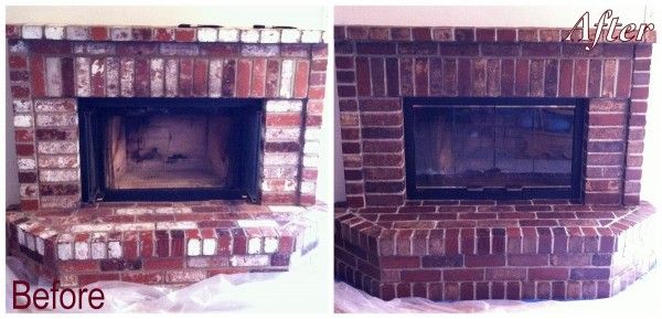 How To Update Brick Fireplace Remodel Stained Brick