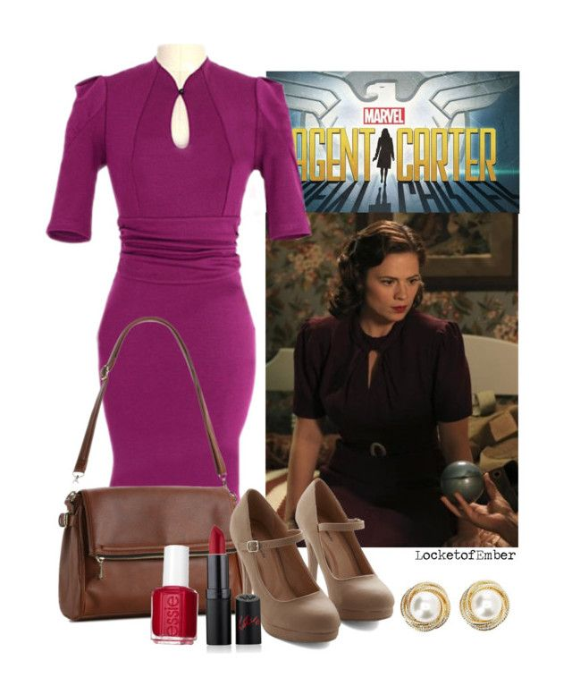 """""""Marvel's Agent Carter Inspired - The Blitzkrieg Button"""" by locketofember ❤ liked on Polyvore featuring Charlotte Russe, Kelly & Katie, Essie, Rimmel, marvel, peggycarter, everydaycosplay and agentcarter"""