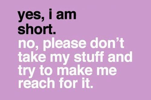 cute quotes about being short