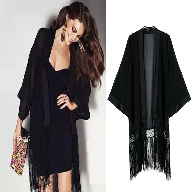 1pc Cheapest Sex Loose 2014 Women's Kimono Long Cardigan Summer ...