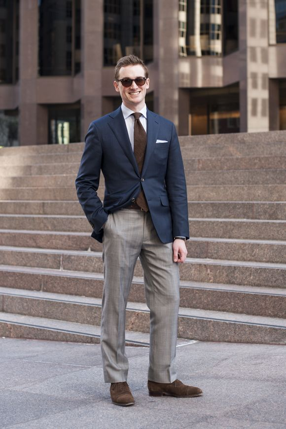 Shades by warby parker navy blazer by proper suit blue for Navy suit gray shirt