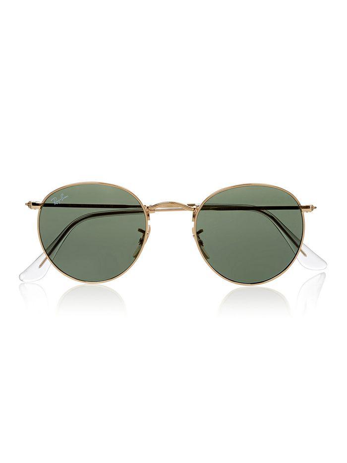 b60db1731190b Explore Óculos De Sol De Armação Redonda e muito mais! Ray-Ban Round Frame  Gold-Tone Sunglasses