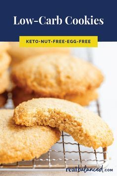 TheseLow-Carb Cookies are a perfect vegetarian and paleo treat to satisfy your sweet tooth! This recipe is low-carb keto paleo gluten-free grain-free dairy-free vegetarian refined-sugar-free and only 1.6g net carbs per serving!