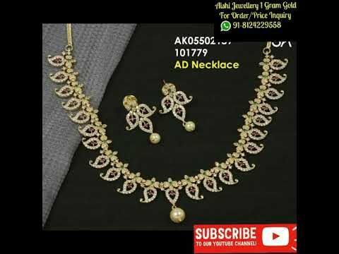 Usa Shipping Available Latest 1 Gram Gold Jewelry With Price