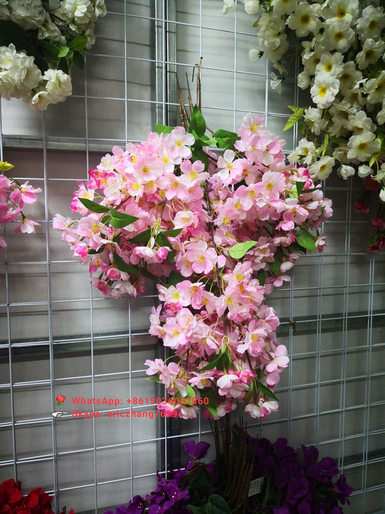 Factory Direct Wholesale Good Quality Artificial Cherry Blossom Branch Cherryblossom Artificialche Artificial Flowers Blossom Flower