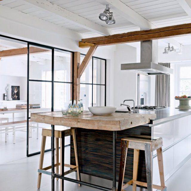 Une verrière dans la cuisine Style scandinave, Verrière et Le style