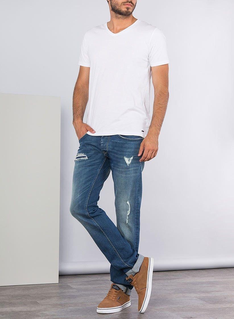 40082dd3 Tienda online | Moda mujer y hombre Pantalones jeans denim rotos ...