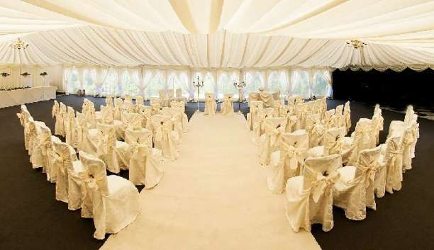 Ringwood Hall Hotel Chesterfield Summer Marquee Set For A