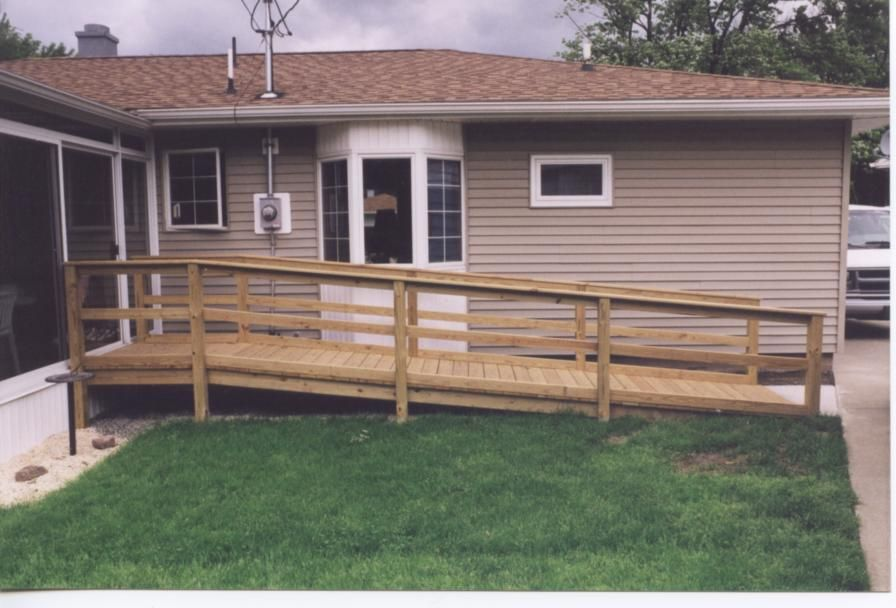 Wheelchair ramps build build a wheel chair ramp portable for Wheelchair homes