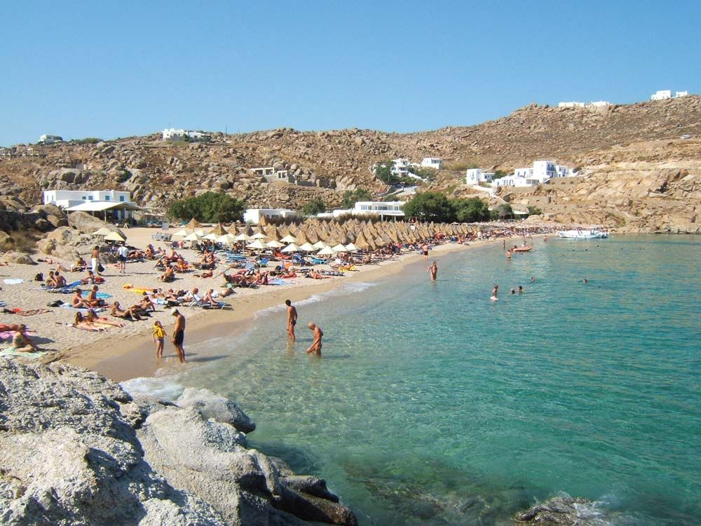Best Island Beaches For Partying Mykonos St Barts: Paradise Beach In Mykonos, Greece