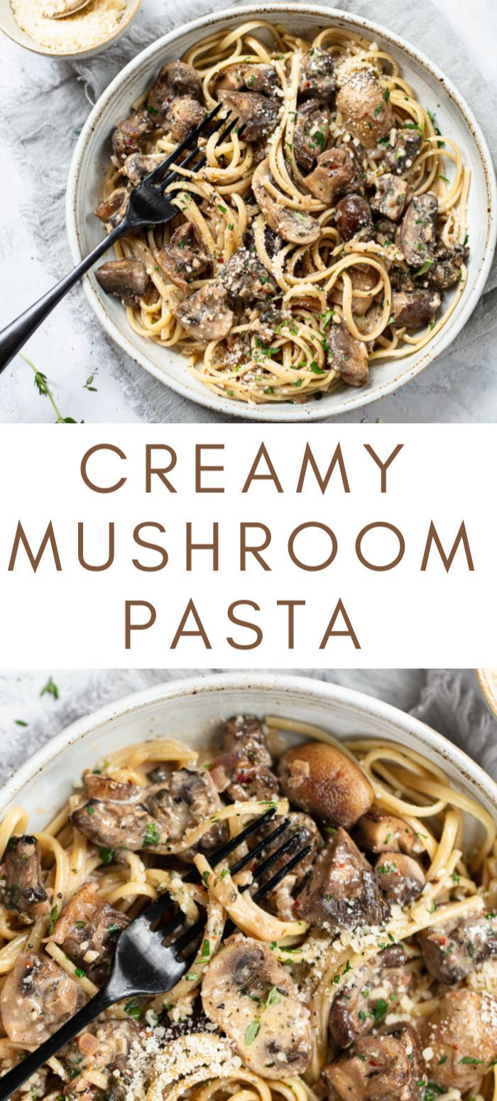 Pasta With Creamy Mushroom Sauce Light Pasta Sauce Breakfast Recipes Easy Light Pasta