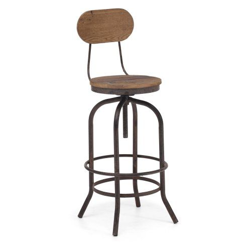 Zuo Modern Twin Peaks Bar Chair - Distressed Natural - Bar Stools at Hayneedle