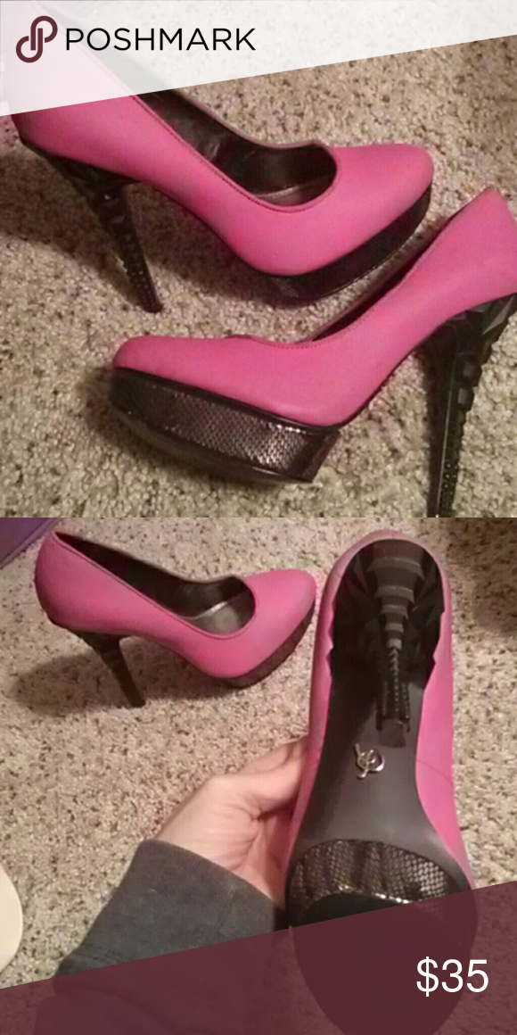 Rachel Roy heels 7 Sexy Rachel Roy heels hot pink with an interesting heel. Rachel Roy Shoes Heels