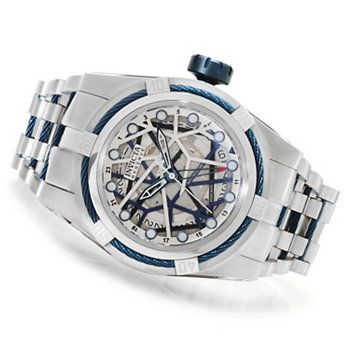 Invicta Reserve Mens Bolt Zeus Swiss Made Automatic A07 GMT Bracelet Watch