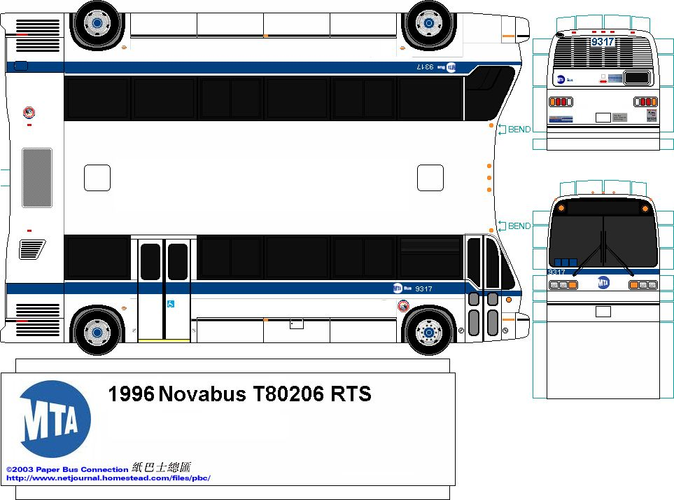 Mta Bus Novabus Rts 9317 With Images City Transit Bus Bus Crafts