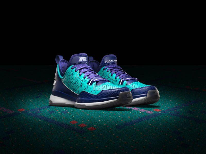 Adidas X D Lillard 1 Pdx Carpet Edition Pdx Carpet Sneakers Basketball Sneakers