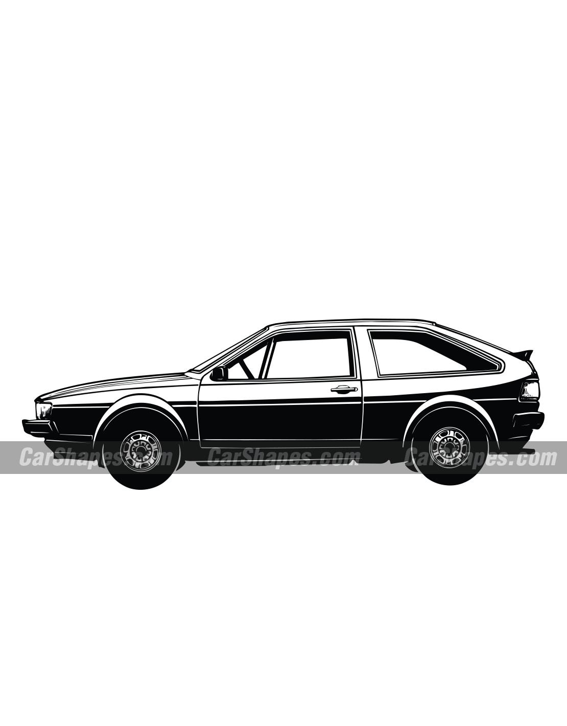 1985 Volkswagen Scirocco | Scirocco | Car vector, Volkswagen, Art
