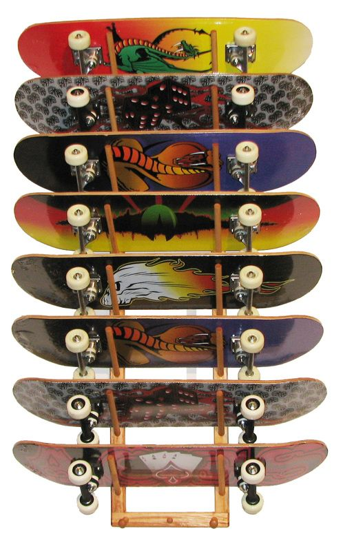 c526d42d Skateboard Rack Holds (8) Angle - Sports Storage Wall Racks ...