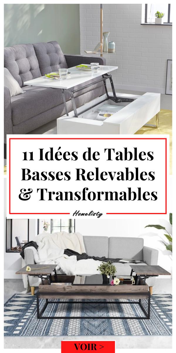 11 Tables Basses Relevables pour Optimiser l'Espace du Salon