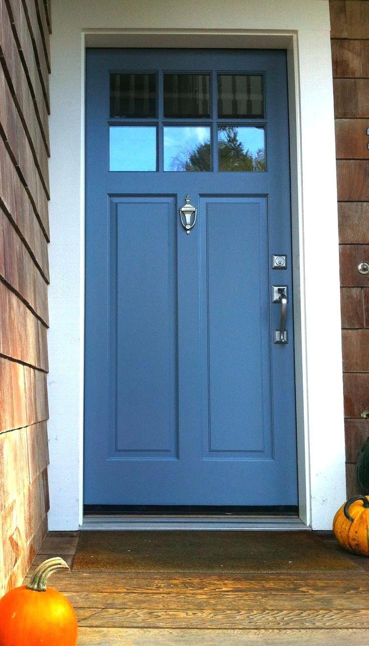 Blue Front Door Meaning Feng Shui A Medium Bluepaint Color Works Well For A Front Door Surrounded Exterior Door Colors Gray Front Door Colors Grey Front Doors