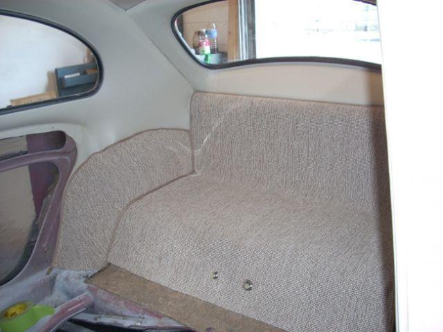 1963 Volkswagen Beetle Rear Carpet Installed Carocha
