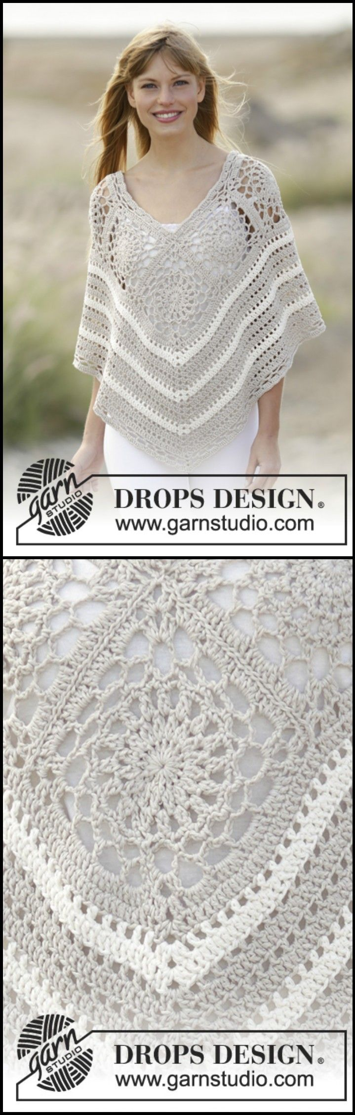 50 Free Crochet Poncho Patterns for All | Ponchos, De encaje y Ganchillo