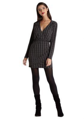 BCBGeneration  Pleat-Front V-Neck Dress