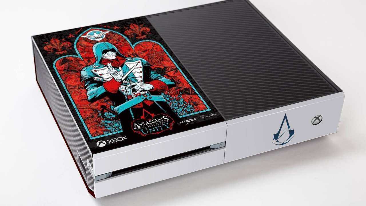 Xbox One With Assassin S Creed Unity Design From Walking Dead