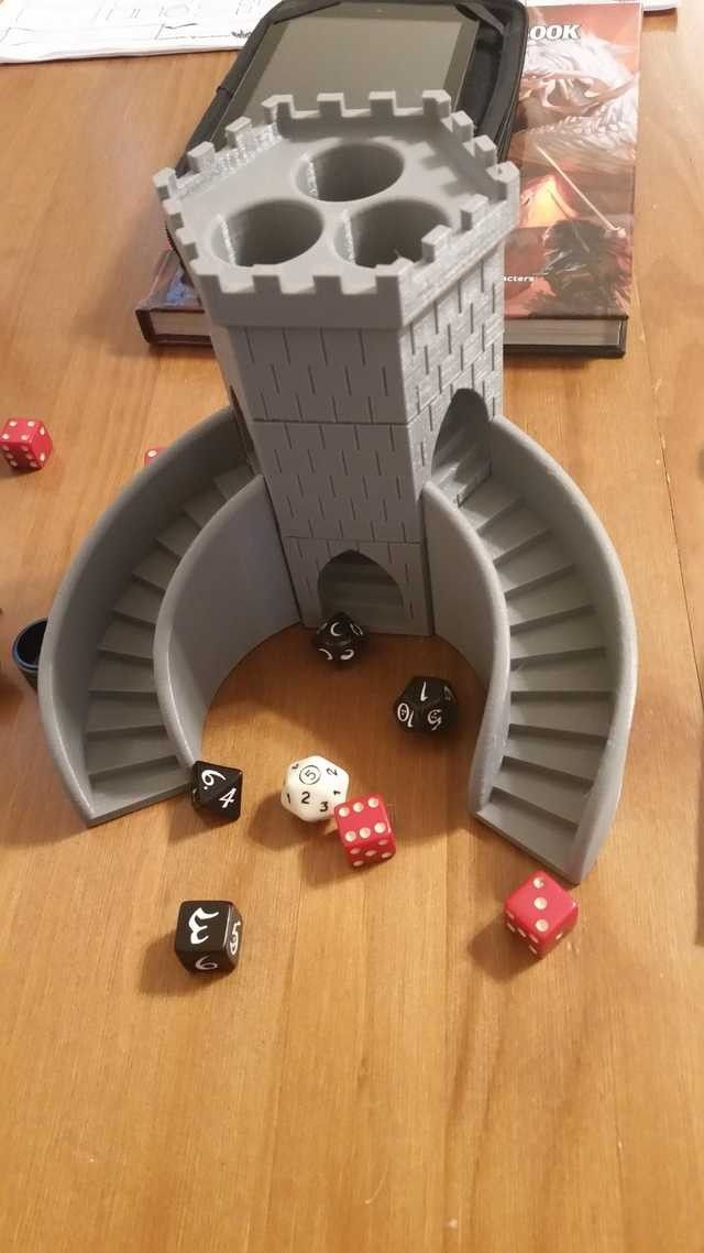 Massif image inside 3d printable dice tower