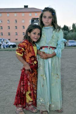 Beautiful Kurdish Girls in their traditional Dresses.
