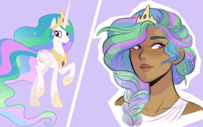 Если бы пони были людьми принцесса Селестия | Принцесса ...