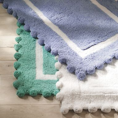 Pottery Barn Teen Pom Pom Bath Rug