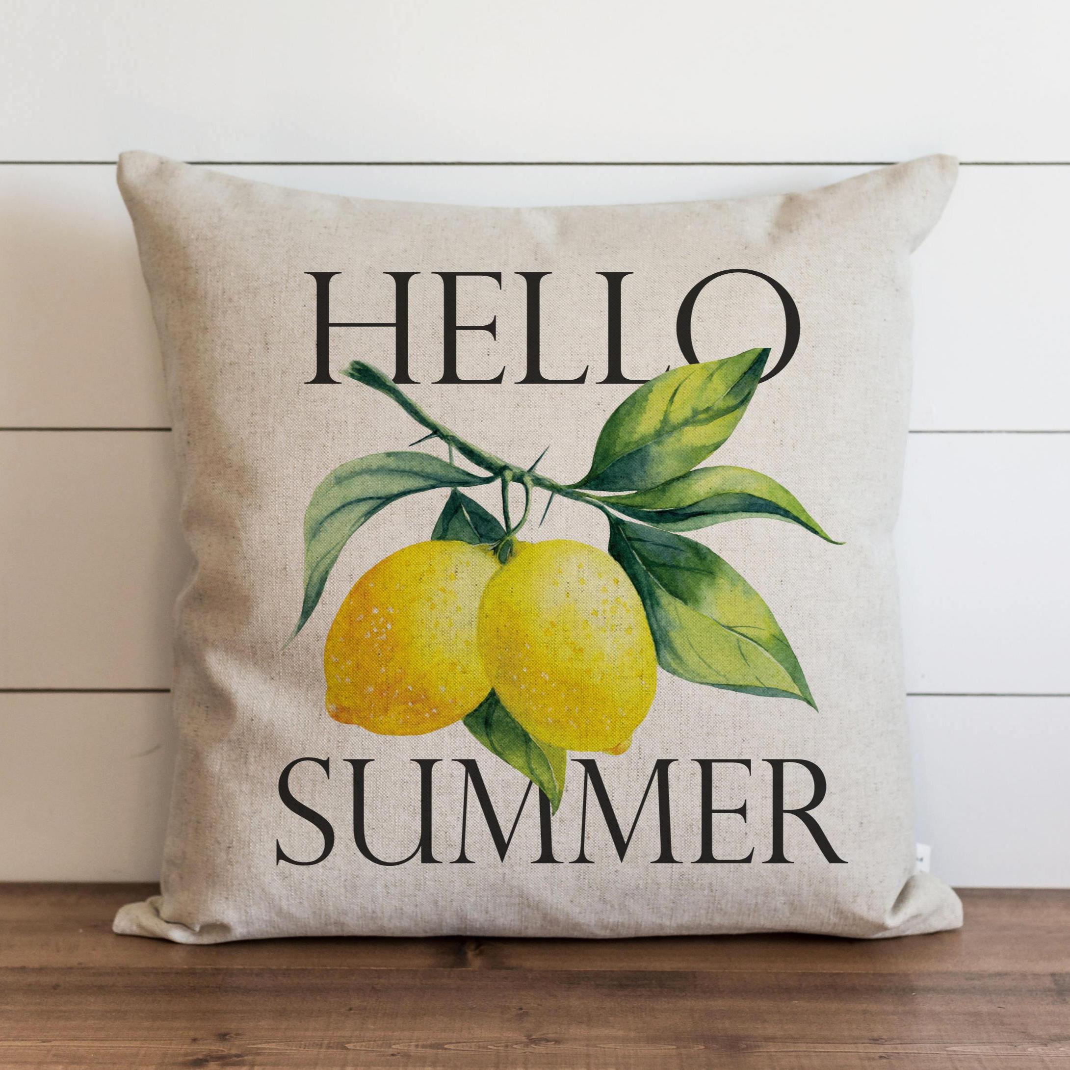 Hello Summer_Lemons Pillow Cover.