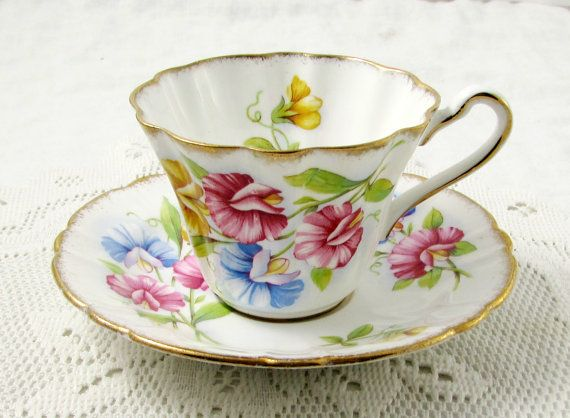 Vintage Tea Cup And Saucer By Royal Stafford Etsy Tea Cups Vintage Tea Cups Bone China Tea Cups