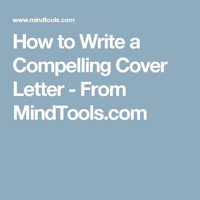 how to write a compelling cover letters
