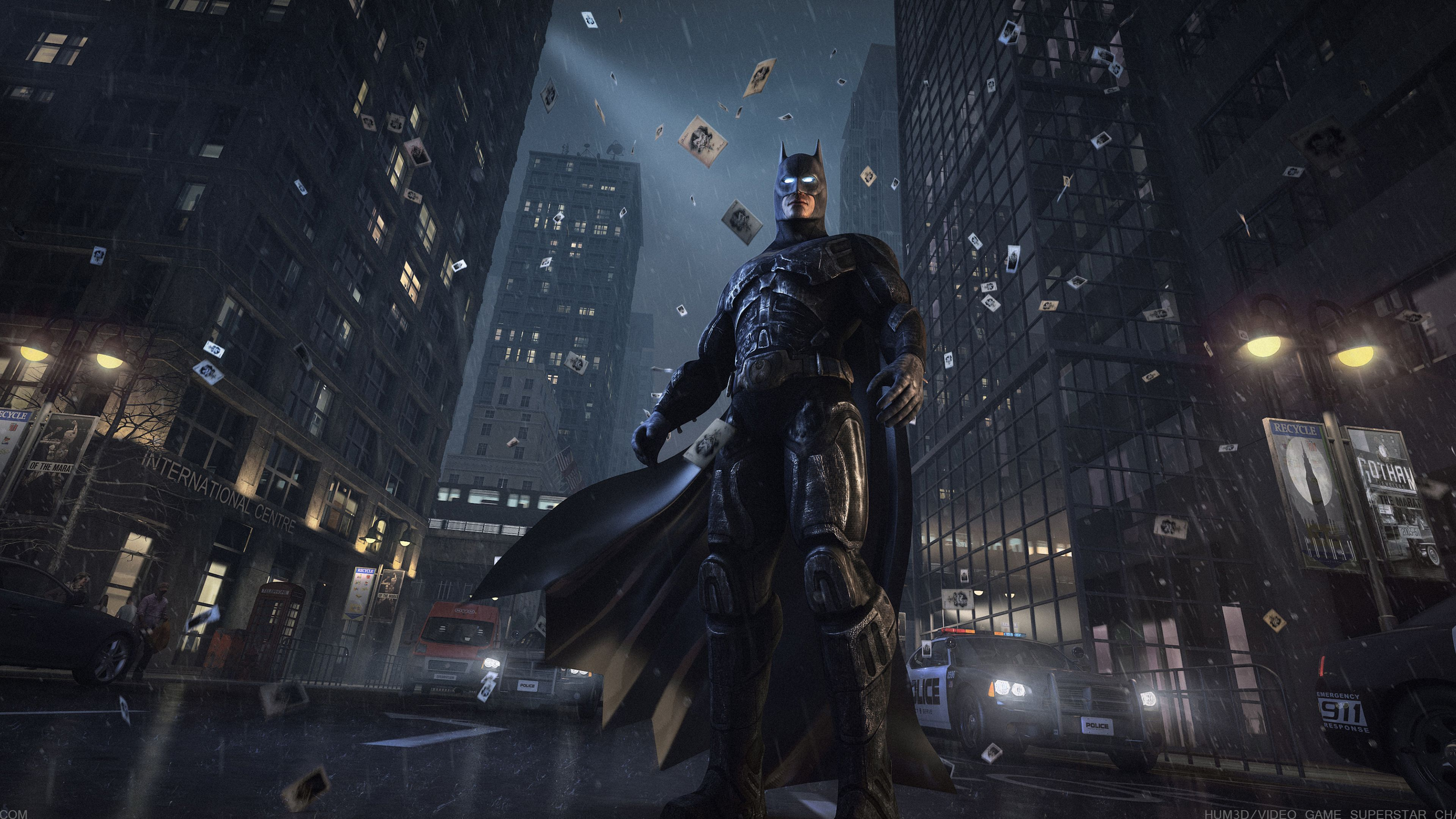 Batman Watching Gotham City superheroes ...
