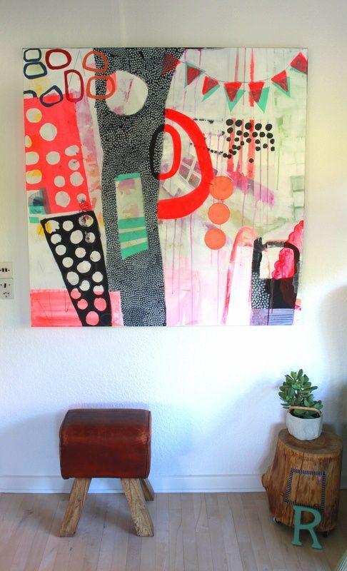 Et Faerdigt Maleri Laes Om Processen Hos Med Billeder Kunstmalerier Abstrakt Kunst Abstract Painting