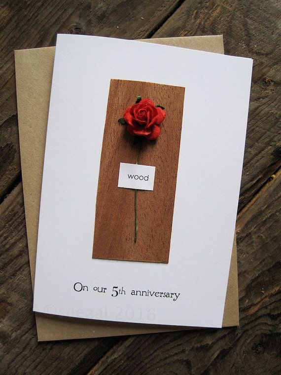 5th Wedding Anniversary Card Wood Traditional Gift For 5 Etsy Wedding Anniversary Cards Anniversary Cards For Wife Happy Wedding Anniversary Wishes