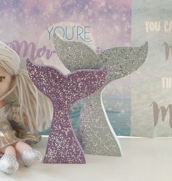 Mermaid Tail - Wooden Mermaid Decor - Girls Bedroom Decor - Mermaid Party Centerpiece - Gift For Gir #mermaidbedroom