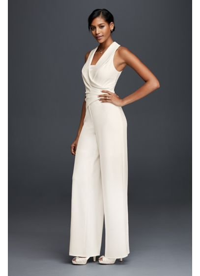 a32978f0486 Long Jumpsuit Beach Wedding Dress - DB Studio