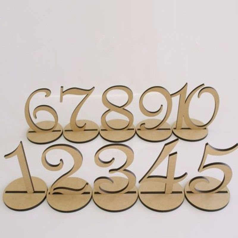 Wedding Table Numbers Wood Decoration Table Decorations Event Party Supplies