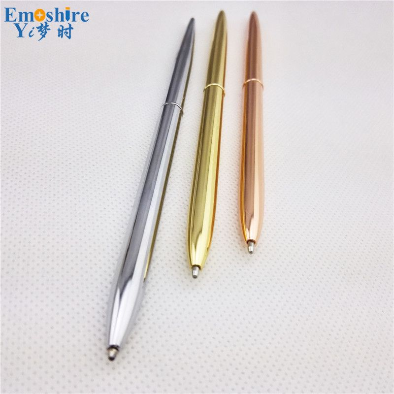 Business Advertising Gifts Roller Ball Pens Slender Rotating Metal  Ballpoint Pen Personality Gold Silver Signature Pen