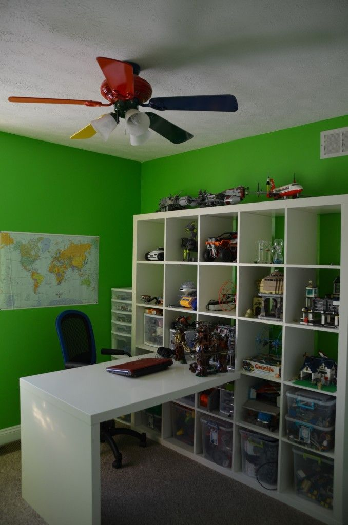 Lego Play Room Large Expedit W Desk Lego Room Lego Bedroom Ikea Boys Bedroom